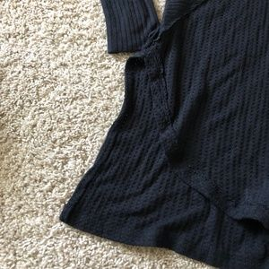 Free People Tops - EUC Free people black high low ventura thermal S